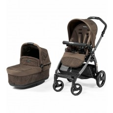 2016 Peg Perego Book Pop Up Stroller with Bassinet - Circles Choco