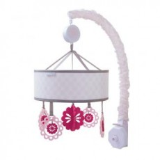 JJ Cole Musical Mobile for Crib - Sweet Primrose Pink