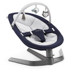 Nuna Leaf Swing Navy and Silver Toy Bar with Twilight Seat Pad Gift Set