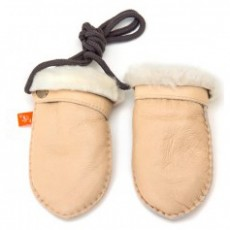Elks and Angels Love Winter Baby Shearling Mitten light Almond