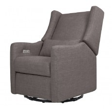 Babyletto Kiwi Glider Recliner with Electronic Control and USB in Grey Tweed