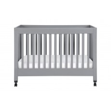 Babyletto Maki Full-Size Folding Crib in Grey Finish