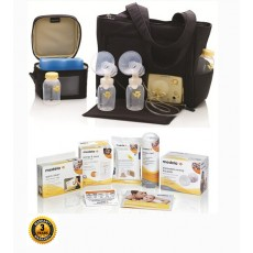 Medela Pump In Style Advanced On the Go Tote Electric Breast Pump Solution Set with 3 Year Warranty
