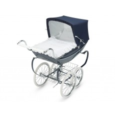 Silver Cross Oberon Hand-Crafted Doll Pram Stroller Pre-Order Navy