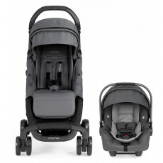2019 Nuna Pepp Dream Drape & Pipa Car Seat Travel System - Graphite