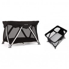 Nuna Sena Aire Pack & Play Playard with Bassinet with Fitted Sheet - Suited Collection