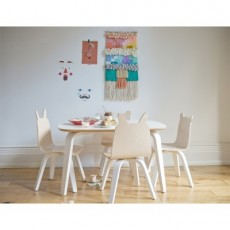 Oeuf Play Table and Chairs Bear Play Set - Walnut