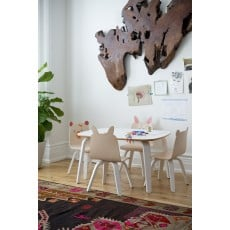 Oeuf Play Table and Chairs Rabbit Play Set - Walnut