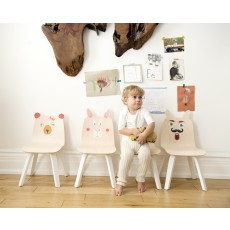Oeuf Play Table and Chairs Rabbit Play Set - Birch