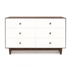 Oeuf Merlin 6 Drawer Dresser for Rhea Crib - Walnut/White