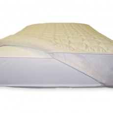 Naturepedic Non-Waterproof Quilted Fitted Mattress Topper - White