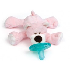 WubbaNub Baby Pink Bear Infant Pacifier