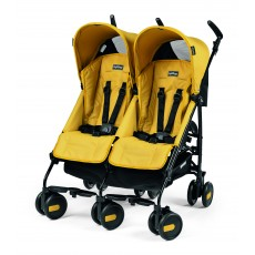 2016 Peg Perego Pliko Mini Twin Leightweight Double Stroller - Mod Yellow