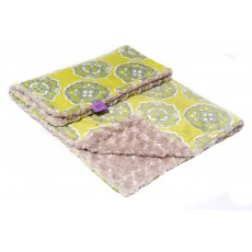Magnolia Line Minky Ultra Soft Baby Blanket - Plush Citron