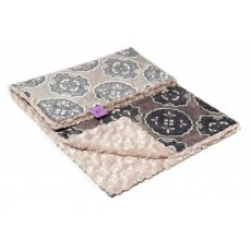 Magnolia Line Minky Ultra Soft Baby Blanket - Plush Grey