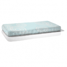 Nook Organic Fitted Crib Sheet Puddle Sea Glass Light Blue