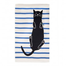2017 Ouef Cat Rug in White/Multi - 4x6ft