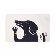 2017 Ouef Dog Rug in White/Black - 4x6ft