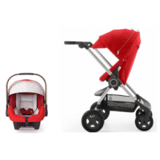 Stokke Scoot V2 Stroller with Nuna Pipa Car Seat Promo - Red