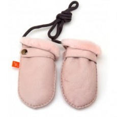 Elks and Angels Love Winter Baby Shearling Mitten Rose Dust