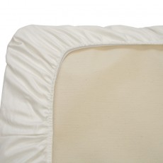 Naturepedic Organic Cotton Fitted Crib Sheet White
