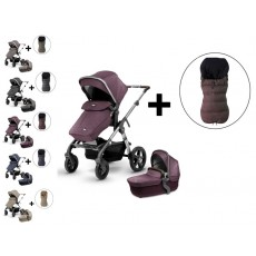 Silver Cross Wave Stroller and Premium Footmuff