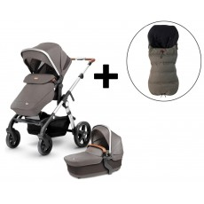 Silver Cross Wave Stroller and FREE Premium Footmuff - Sable
