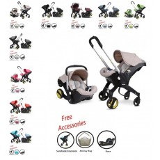 Doona Infant Car Seat Stroller with Base, All Day Bag & Sunshade Extension