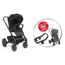 2019 Nuna MIXX2 Stroller + Ring Adapter with Rain Cover- Caviar