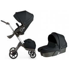 2017 Stokke Xplory V5 Stroller with Bassinet Newborn Package - Black