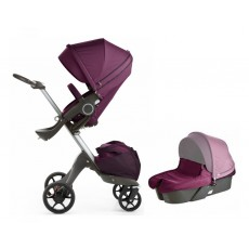Stokke Xplory V5 Stroller with Bassinet Newborn Package - Purple
