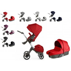 Stokke Xplory V5 Stroller with Bassinet Newborn Package