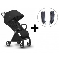 Silver Cross Jet Stroller and Car Seat Adapter Set - Ebony