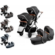 Silver Cross Wave Twin Stroller Complete
