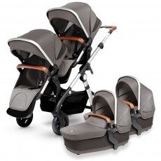 Silver Cross Wave Twin Stroller Complete - Sable