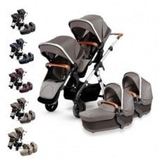 Silver Cross Wave Twin Stroller Complete (Wave Board Compatible)