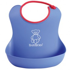 Baby Bjorn Well-Designed and Comfy Soft Bib Blue