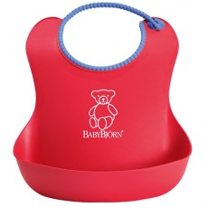 Baby Bjorn Well-Designed and Comfy Soft Bib Red