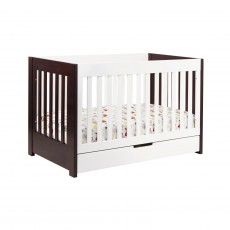 Babyletto Mercer 3-in-1 Convertible Crib with Toddler Rail Espresso/White