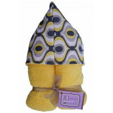 Magnolia Line Hooded Towel - Yellow Marina