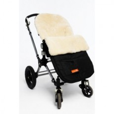 Elks and Angels Snuggle Pod Sheepskin Footmuff - Buttermilk
