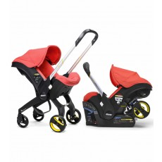 Doona Infant Car Seat Stroller with Base - Red Love