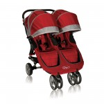 Baby Jogger City Mini Lightweight Easy Fold Double Stroller Crimson/Gray