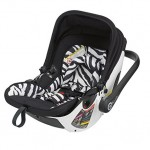 Kiddy Evolution Pro Lie Flat Infant Car Seat - Zebra