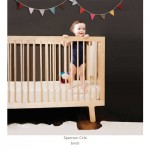 Oeuf Sparrow Crib - Walnut