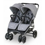 Valco Baby Snap Duo 2 Tailor Made Lightweight Double Stroller - Grey Marle