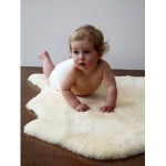 Elks and Angels Baby Sheepskin Rug Shorn