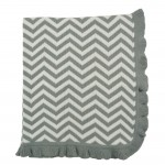 Magnolia Line 100% Natural Cotton Knit Blanket Chevron