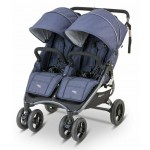 Valco Baby Snap Duo 2 Tailor Made Lightweight Double Stroller - Blue Denim